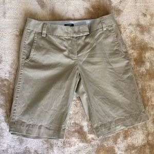 J. Crew City Fit Khaki Bermuda Shorts